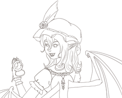 Remilia Lineart by StitchCometCreations