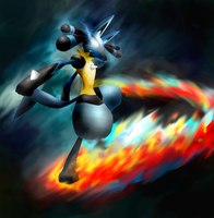 Aura burst - blaze kick by sharkjaw