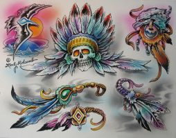 War Feathers by Artistic-Tattooing