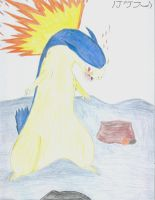 Typhlosion by Rougealienpirate