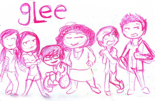 glee sketch by Chocoreaper