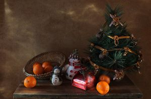 About tangerines and snowmen 1 by An-gora