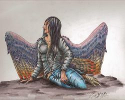 avian girl finished by atrafeathers