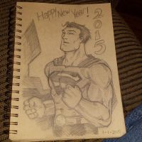 January 1st Superman sketch by Blrout