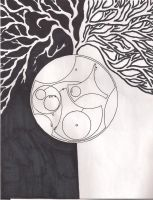 Reddit downtime + Sharpie + Gallifreyan by Kindley-Pixel