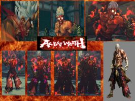 Evil Ryu Asura's wrath by monkeygigabuster