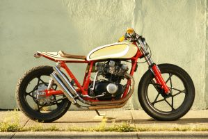 Orange and Cream Cafe Racer 5 by Vidiphoto