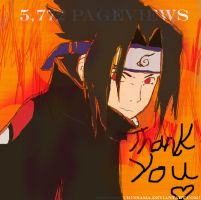 Sasuke -can't wait for 6000 by KasurinSama