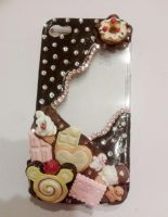 Iphone 4 deco phone cover by Luna-Goodies