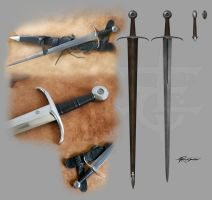 My medieval sword and scabbard by Shockbolt