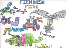 Fiendish Five by SlyCooperGal