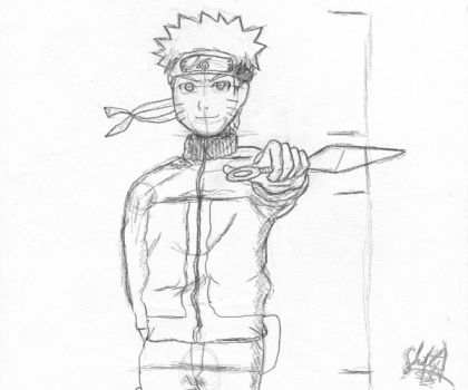 Uzumaki Naruto Sketch by ShiftyJ