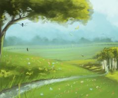 The Birch Lot Speedpaint by Hathien603