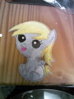 Derpy as a baby embroidered patch by ravenlady13