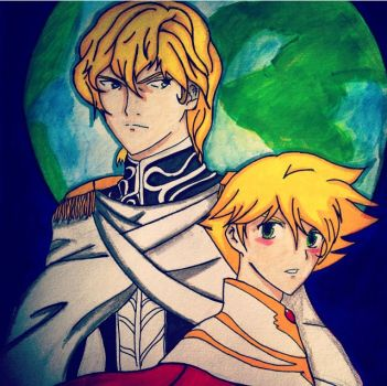 Blond Galactic Boys by charibo