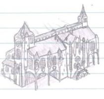 lecture sketches - Guild hall by packie1984