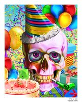 Happy birthday Skull by eccoarts