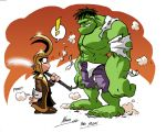 Hulk and Loki by NachoMon