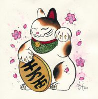 Lucky Cat by chanelharris