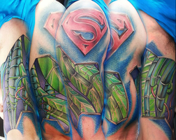 Super mech tattoo half sleeve by joshing88