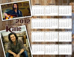 Christian Kane 2012 calendar by whiteroselady