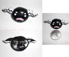 Black and White Guttling Pin by 13anana
