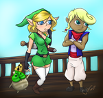 Link And Tetra by TheCediz
