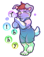 Tibby Art Trade Badge by Tattletail
