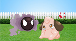 Pokemon Babies: Gastly and Cleffa ANIMATION!!!!!!! by ModernLisart