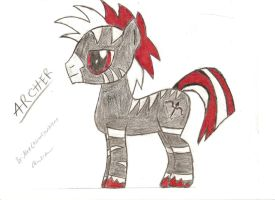 Archer pony - hand drawn - better with color by Mr-Archer-H