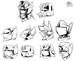 concept optimus heads by cromagnus