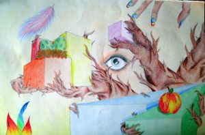 Cubes and some Organic by Nicole12D