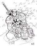 Gully and Garrison in the snow by RIVOLUTION