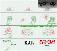 Ares VS Evil Cake ROUND 1 FIN by eXed-OUT