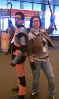 Gordon and Alyx cosplay PAX East 2011 by maddynamite