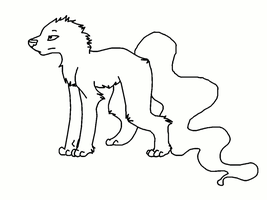 Paint Friendly Helhund Lineart - FEMALE by ErythraPyralis