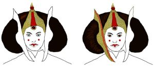 Queen Amidala Progression- WIP by dazzleflash