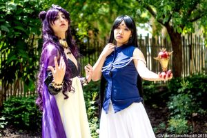 ColossalCon 2015 - Queen Nehelenia and Mistress 9 by VideoGameStupid