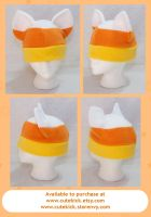 Candy Corn Cat Hat by cutekick