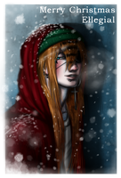 in Christmas colours by Janiko-neko-chan