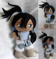 Commission, Mini Plushie Korra by LadyoftheSeireitei