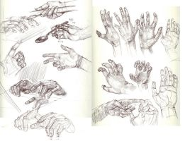 Hand sketches 3 by Ezekiel-Black