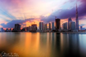 Dubai sunset at its best by ahmedwkhan