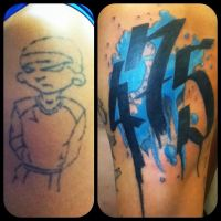 Cover up tattoo by Add-tooth