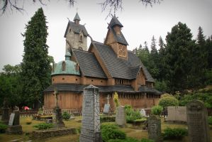 Vang Stave Church by black-amber