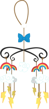 Rainbow Dash's Cloudsdale Mobile by Parcly-Taxel