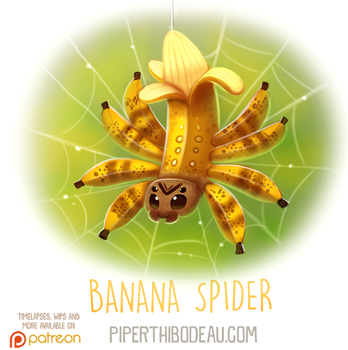 Daily Paint 1623. Banana Spider by Cryptid-Creations