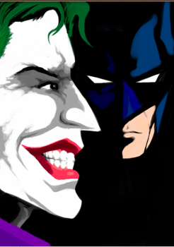 Batman and the Joker by horizonred