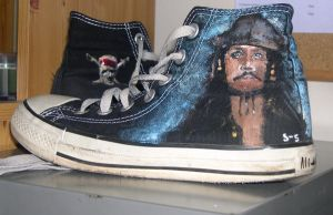 Jack Sparrow themed Converse by simple-sarah