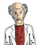 Colored Scientist Character Concept Sketch by dustintmoney